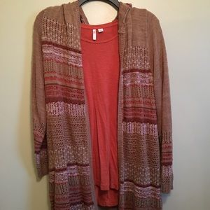 Duster Cardigan with Shirt